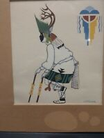 J.D. ROYBAL Art Native American Ceremonial Dancer Oquwa San Ildefonso Silkscreen