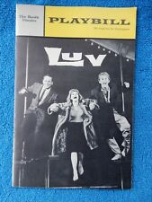 Luv - Booth Theatre Playbill - January 1966 - Eli Wallach - Anne Jackson - Dell