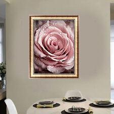 DIY 5D Diamond Painting Rose Flower Embroidery Cross Stitch Kits Crafts Wall Art