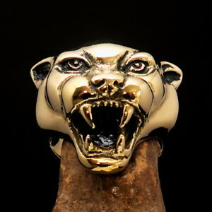 Excellent crafted Men's Biker Ring detailed vicious Panther