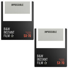 2 Packs Impossible Black & White Film for Polaroid Sx-70 Cameras (white frame)