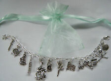 Peter Pan Theme Charm Bracelet Party Bag Filler Tinkerbell Hook Prize