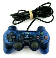 Sony PlayStation 2 PS2 Official OEM DualShock Clear Blue Controller SCPH-10010