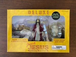 DELUXE MIRACLE JESUS ACTION FIGURE W/ GLOW IN DARK HANDS ACCOUTREMENTS 2009 NIB