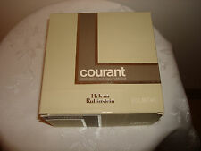 Vtg Helena Rubinstein COURANT Perfumed Dusting Bath Body Powder 6 oz Puff Box