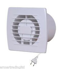 "Bathroom Extractor Fan Ducting 100mm / 4"" with a Cable Plug & Pull Cord EOL100"