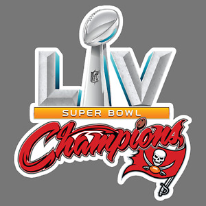 Tampa Bay Buccaneers Super Bowl LV 55 Champions Sticker Car Truck Window Decal