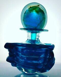 Vintage Mdina  Glass 'Sea And Sand' Perfume Bottle & Stopper