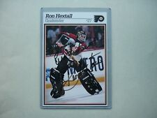 1995/96 OCEAN SPRAY NHL HOCKEY PHOTO RON HEXTALL AUTHENTIC AUTOGRAPH AUTO SHARP+