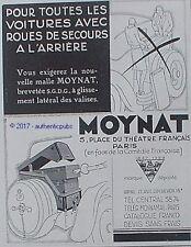 PUBLICITE MOYNAT BAGAGE MALLE VALISE POUR AUTOMOBILE DE 1929 FRENCH AD PUB RARE