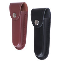 Folding Knife Sheath Holster Cowhide Leather Knife Sheath ScabbardEF
