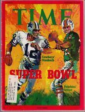 Roger Staubach Bob Griese 1972 Time Magazine 1/17/72 EX/MT