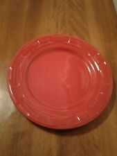 Longaberger Woven Traditions Tomato Dinner Plate Pre-Owned Mint!