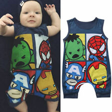 Cute Newborn Baby Boy Girls Avengers Romper Jumpsuit Bodysuit Clothes Outfits