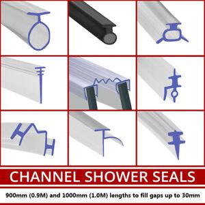 Channel Shower Screen Seal Strip   Bi-Fold Folding Soft Rubber   T Shape   1M