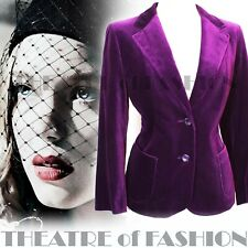 JACKET COAT 10 12 VELVET PURPLE VINTAGE COAT M 40s 30s 50s LUXURIOUS
