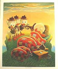Beautiful 1990s Carl Barks/Disney Donald Duck Print-Rude Awakening (C1340)
