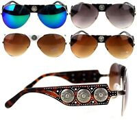 Montana West Western Sunglasses Gauge Concho Collection Designer Glasses