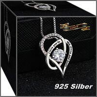 ❤️Damen Halskette mit Anhänger 925 Silber Herz Zirkonia Schmuck Geschenk