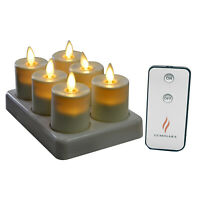 Luminara Flickering Rechargeable Tea Lights, Flameless Led Candles for Wedding