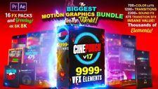 Set of Motion Graphics of 10,000 VFX Elements! Transitions Color LUTs Sound FX