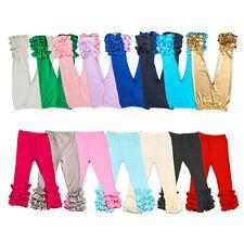 New Ruffle Pants Baby Girls Toddler Kids Long Boutique Icing-Ruffle Leggings Hot