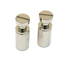 (2) Nickel SAE Stop Tailpiece Studs w/Body Inserts for USA Gibson® TP-0455-001