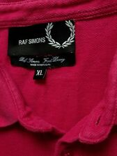 Fred Perry x Raf Simons Pink Polo Shirt - Large
