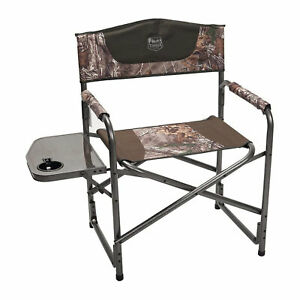 Timber Ridge Outdoor Portable Folding Camping Directors Chair & Side Table, Camo