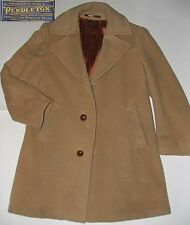 VINTAGE 60s 70s Sir Pendleton Wool Overcoat Beige Size Men's M VGC Made in USA