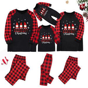 Christmas Family Matching Pyjamas Sleepwear PJs Set Festive Adult Kids Nightwear
