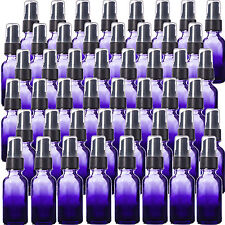 Purple Shaded 1oz Glass Bottles with Black Fine Mist Spray Tops Pack of 48, New