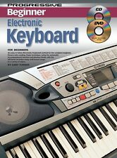 PROGRESSIVE BEGINNER ELECTRONIC KEYBOARD LESSONS - TEACH YOURSELF CD + DVD *NEW*