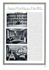 Hotel Münchner Hof in Wien XL Reklame 1929 Besitzer Franz Aufischer Werbung +