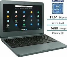 "Samsung 3 11.6"" Chromebook Intel Atom x5/2GB/16GB eMMC/Wireless-AC Charcoal NEW"
