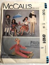 "Doll Pattern McCall's # 8181 Barbie Size 11.5"" uncut Wedding Dress Pants Sweats"