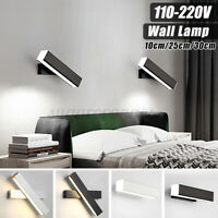 Acrylic Adjustable 2835LED 3200K Wooden Modern LED Wall Lights Fixture Bedroom