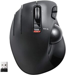 ELECOM Wireless Trackball Mouse M-XT4DRBK 6 Button Black for Left Hand New