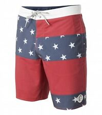 O'NEILL Men's FREEDOM Boardshorts - Red/White/Blue - Size 32 - NWT
