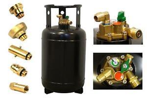 CAMPKO Gasflasche 30L wiederbefüllbar mit Multiventil 80% Füllstop 67R01 LPG