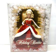 """2007 Holidays Celebration Barbie Doll """"Miss Santa Claus"""" Frosty Window Snowflake"""