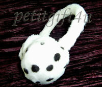 Super Warm Lovely Earwarmer Earmuffs - White Leopard