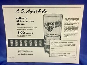 Indianapolis Indy 500 1953 Original GOLD TRIMMED Winners Glass Set NEW IN BOX