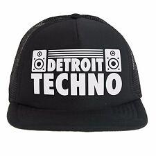 Cappello Techno Detroit Dj, Trucker cap nero, musica elettronica dance