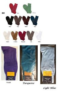 **Men's Silky Dress Socks ONE SIZE FIT 10-13 SHOES 7-12 S01