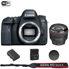 Canon EOS 6D mark II DSLR Camera Body + EF 85mm f/1.2L II USM Lens