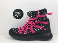 YOUTH Nike Roshe One High Print (GS) Size-4.5Y Black Pink Dots (807744 001)