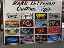 Stans Airbrush License Plates Custom Hand Lettered Names See Video Below
