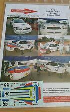 DECALS 1/24 REF 675 SUBARU IMPREZA WRX ROWE TOUR DE CORSE 2003 RALLYE RALLY WRC