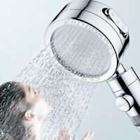 3 IN 1 Water Saving Handheld Shower Head High Pressure 3 Modes With ON/Off/Pause